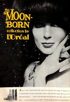 "L'Oréal ""Moon Born"" Lipstick & Nail Polish Ad, 1967"