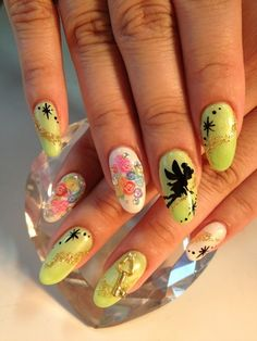 For you Tinkerbell fans!   Disneymation Nails