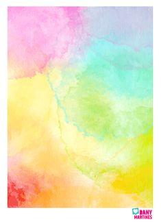 Molde fundo aquarela de capa
