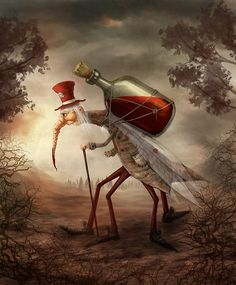 'Old mosquito' Art Print by Alexander Skachkov Fantasy Creatures, Mythical Creatures, Character Illustration, Illustration Art, Arte Peculiar, Arte Indie, Fantasy Character, Fairytale Art, Creepy Art