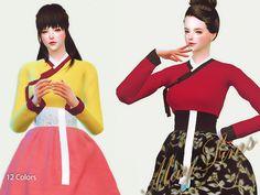 HanBok Korean traditional dresses at May Sims via Sims 4 Updates