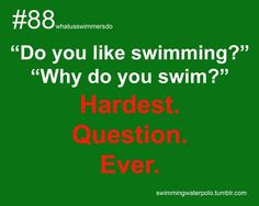 I say I love it, but then I can't put that amazing feeling of diving into the water and swimming your favorite stroke(Butterfly) into words. Swimming Funny, Swimming Memes, I Love Swimming, Swim Team Quotes, Swimmer Quotes, Swimming Motivation, Swimmer Problems, Little Swimmers, Competitive Swimming