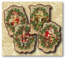 free+vintage+christmas+printable+scrapbook   vintage christmas labels digital collage sheet download $ 4 20 item ...
