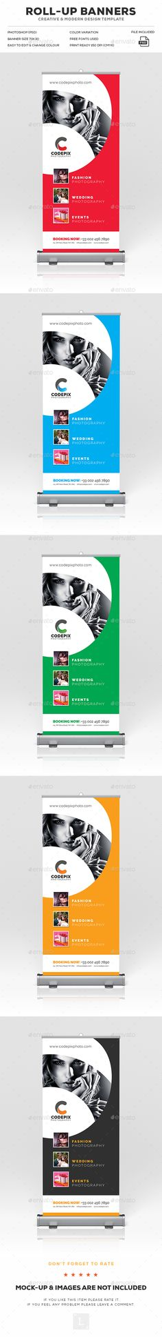 Photography Roll-Up Banner Template PSD. Download here: https://graphicriver.net/item/photography-rollup-banner/17050263?ref=ksioks