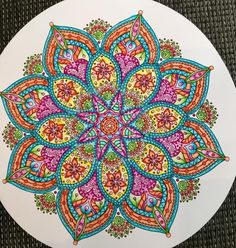 Mandala and Zentangle Artworks to Inspire Mandala Drawing, Mandala Painting, Dot Painting, Mandala Art, Coloring Books, Coloring Pages, Psy Art, Mandala Coloring, Doodle Art