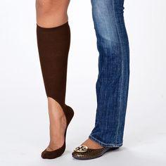 Keysocks - wear heels & flats in the winter!  Even better than full length tights!