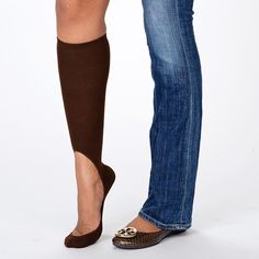 Awesome idea!   Women's No Show Brown Sock – Keysocks