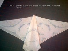 How to fold hankie to make butterfly for quilt. (aerial view butterfly)