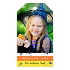 Shop Happiest Halloween Photo Treat Tag created by Orabella. Personalize it with photos & text or purchase as is! Halloween Party Supplies, Halloween Bags, Halloween Invitations, Halloween Photos, Halloween Party Costumes, Halloween Party Decor, Holidays Halloween, Baby First Halloween, Happy Halloween