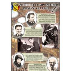 Portrete Muzicieni si compozitori romani celebri 1 Decembrie, Romania, Baseball Cards, Movies, Movie Posters, Cabinet, Clothes Stand, Films, Film Poster
