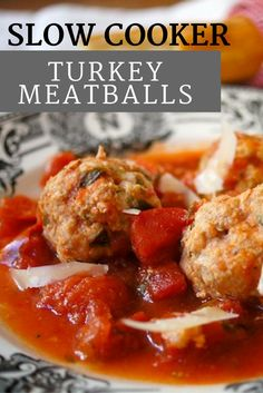 Saucy Slow Cooker Turkey Meatballs are easy to assemble, healthy, and so delicious. A perfect family supper or meal for a crowd.