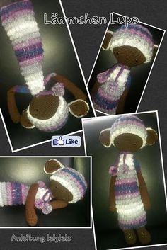 LUPO the lamb made by Bianca K. / crochet pattern by lalylala