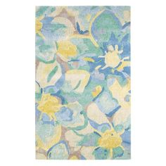 Company C Blue Poppies Indoor Area Rug - 10200-MULT-26X8