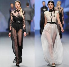 The Emperor 1688 2014-2015 Fall Autumn Winter Womens Runway Looks - Fashion Forward Dubai UAE United Arab Emirates - Outerwear Hanging Sleeve Cape Capelet Shorts Blouse Shirt Gingham Checks Leather Ornamental Ornamental Print Decorative Decorative Art Architecture Kaleidoscope Bowtie Dress Zipper Trench Coat Furry Hoodie Flowers Florals White Dress White Ensemble Leather Harness Bondage Lace Sheer Chiffon Tulle Peek-A-Boo