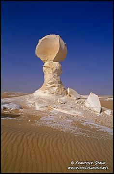 Wind-sculpted rock formations in the White Desert, Egypt by Frantisek Staud
