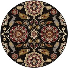 Decorate with flair using this ornately designed transitional home decor area rug.