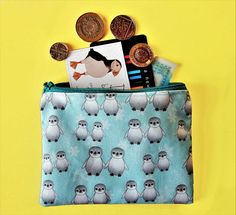Your place to buy and sell all things handmade Cute Baby Penguin, Baby Penguins, Penguin Drawing, Hobbies And Interests, Coin Purses, Everyday Bag, Printing On Fabric, Snowflakes, Print Design