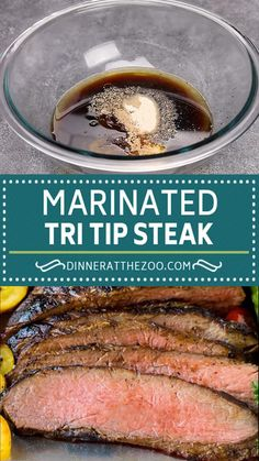The most flavorful tri tip marinade that produces tender and juicy results every time! Tri Tip Steak Marinade, Tri Tip Steak Recipes, Grilling Recipes, Meat Recipes, Indian Food Recipes, Cooking Recipes, Tri Tip Traeger Recipe, Marinade For Roast Beef, Homemade Steak Marinade