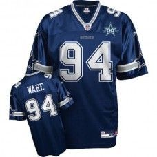 2e48a72c5 Cowboys  94 DeMarcus Ware Blue Team 50TH Anniversary Patch Stitched NFL  Jersey Dodgers Jerseys