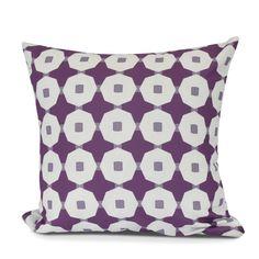Borel Button Up Geometric Outdoor Throw Pillow