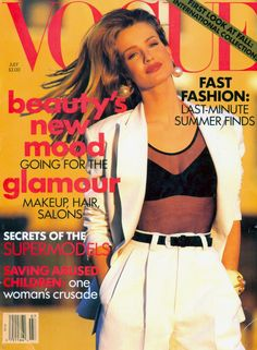 US VOGUE - JULY 1991 COVER MODEL - KAREN MULDER