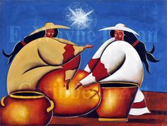 Twin sisters by Lionel, Dominican Republic Caribbean Culture, Caribbean Art, Painting Inspiration, Design Inspiration, Twin Sisters, Love Painting, Dominican Republic, African Art, Art Google