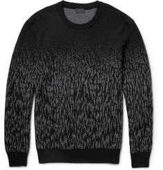 Lanvin Dégradé Wool-Jacquard Sweater