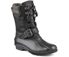 Saltwater Misty Duck Boot, Black