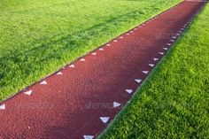 Buy running track for a long jump competition by PixelsAway on PhotoDune. running track with a red sysnthetic surface for a long jump competition Jogging Track, Running Track, Aesthetic Space, Long Jump, Sport Design, Backyard For Kids, Track And Field, Pavement, Athletics