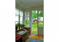 Enclosed Front Entry Porch Behind Closed Doors