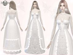 jomsims' Atanis wedding dress3 #thesims4 #ts4 #ts4cc #ts4femaleclothes