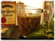 Fajita Lime Marinade----sub fresh orange juice for part of tequila and use a little Chipotle/adobo OR Chipotle Tabasco sauce instead of smoke flavoring.