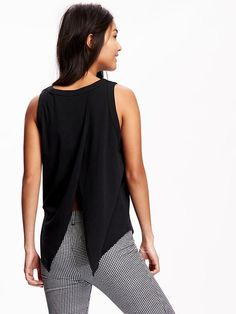Relaxed Tulip-Back Tank Top