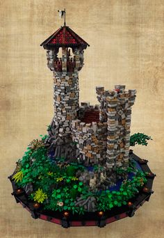 The Ancient Eyrie: Full view 3   by Brickfiend