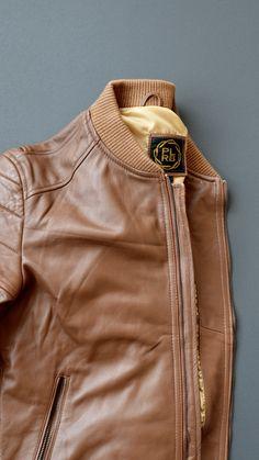 Lambskin Leather Racer Jacket by PLRB Clothing! #leather #bomberjacket #menswear #mensfashion