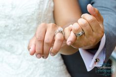 African American Bride and Groom Hands Closeup with Rings - Charlotte NC