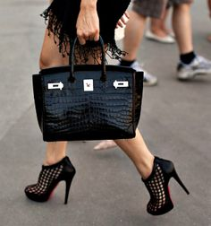 black crocodile birkin