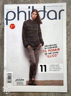 Magazine tricot Phildar - Fil mohair pour l'hiver