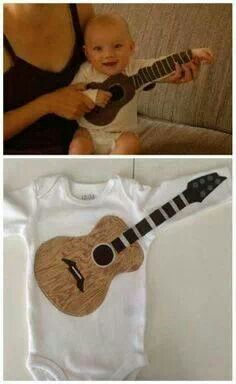 Love this guitar onsie!