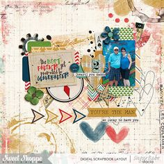 Only Him Bundle by Digital Scrapbook Ingredients and Studio Basic Designs; With You Templates by Two Tiny Turtles; Layered Cards: Grandparents by Cindy Schneider
