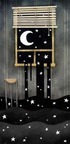Creative Night, Art, Photography, and Silence image ideas & inspiration on Designspiration Art And Illustration, Art Illustrations, Illustrator, Moon Art, Nocturne, Stars And Moon, Graphic, Night Skies, Stars