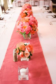 Superior La Tavola Fine Linen Rental: New York Shell Linen W/ Peau De Soie Coral  Napkins | Collection | Sequins | Pinterest | Pink Summer, Wedding Events  And Wedding