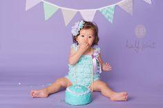 Cake Smash : Purple and Mint Baby Girl 1st Birthday, 1st Birthday Outfits, Mermaid Birthday, Cake Smash Outfit Girl, Lace Romper, First Birthdays, Baby Kids, Girl Outfits, Half Pint