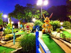 Night golf @ Peter Pan mini golf