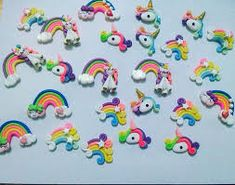 Resultado de imagen para accesorios de unicornio en masa flexible Sprinkles, Candy, Unicorns, Sweets, Candy Bars, Chocolates
