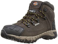 From 44.95 Dickies Unisex-adult Medway S3 Safety Boots Fd23310 Brown 9 Uk 43 Eu