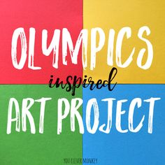 Olympics Inspired Art Project - inspired by the 2016 Rio Olympics, this colourful multi media art project uses simple, easy to find materials and is suitable to preschoolers to middle school | you clever monkey