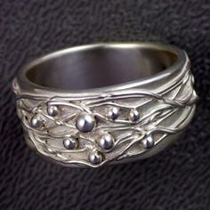 silver metal clay ring images - Google Search