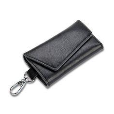 Genuine Leather Soft Men Women Car Key Coin Card Holder Purse Wallet Key Case Multifunctional Waterproof Key Holder Organizer
