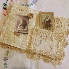 fabric lace book journal - Google Search
